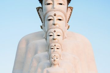 Different size statues of Buddha representing that life cand dreams comes in all shapes and sizes